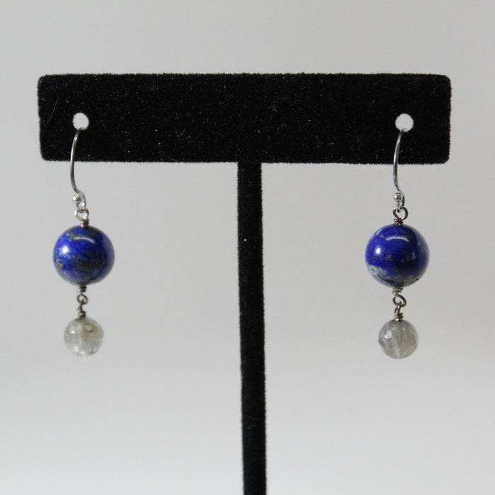 Earth + Moon Dangle Earrings