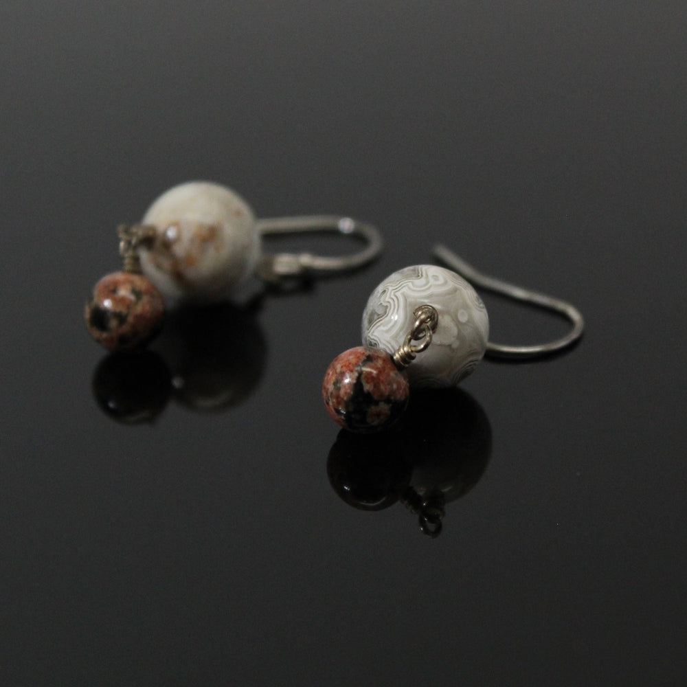 Pluto + Charon Dangle Earrings