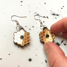 Load image into Gallery viewer, James Webb Space Telescope Mirror Acrylic Earrings