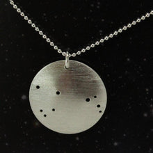 Load image into Gallery viewer, Northern Constellation Pinhole Sterling Silver Necklace