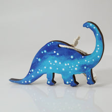 Load image into Gallery viewer, Starry Dinosaur Hand-Painted Wood Ornament