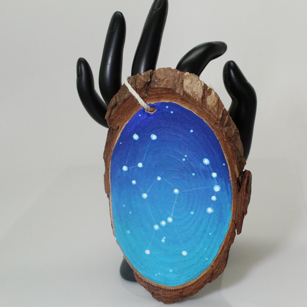 Hand Painted Orion Galaxy Wooden Ornament