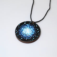 Load image into Gallery viewer, Globular Cluster Hand-Painted Wood Necklace