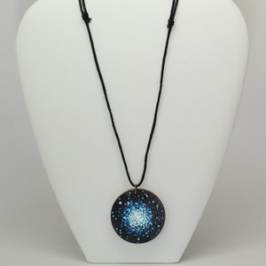 Globular Cluster Hand-Painted Wood Necklace