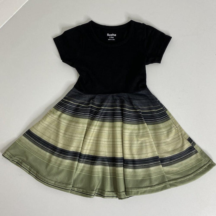Saturn's Rings Kids Twirl Dress