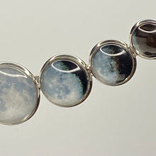 Load image into Gallery viewer, Super Moon Phases Curved Necklace