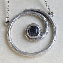 Load image into Gallery viewer, Spiral Galaxy Silver and Labradorite Pendant