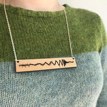 Load image into Gallery viewer, Gravitational Wave Wood Necklace