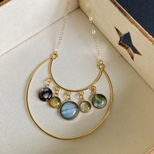 Load image into Gallery viewer, Jupiter & Galilean Moons Gold Necklace