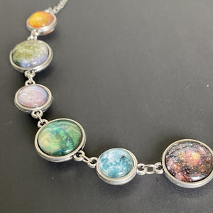 Moons of the Solar System Double-Sided Necklace