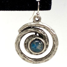 Load image into Gallery viewer, Spiral Galaxy Silver and Labradorite Earrings