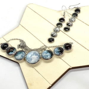 Super Moon Phases Curved Necklace
