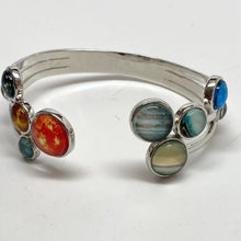 Load image into Gallery viewer, Solar System Cluster Adjustable Cuff Bracelet