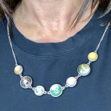 Load image into Gallery viewer, Moons of the Solar System Double-Sided Necklace