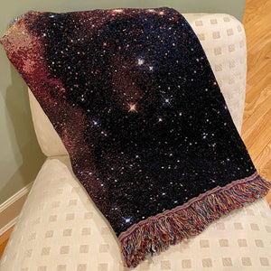 Nebula Image Woven Throw Blanket