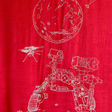 Load image into Gallery viewer, Mars Perseverance Rover + Ingenuity Helicopter Scarf