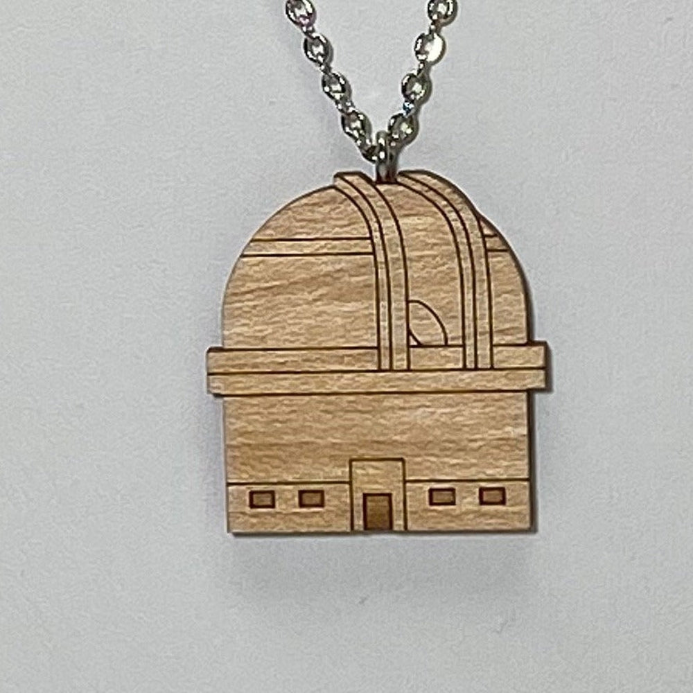Observatory Dome Wood Necklace