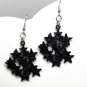 Star Cluster 3D Printed Earrings