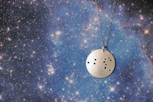 Load image into Gallery viewer, Zodiac Constellation Pinhole Sterling Silver Necklace
