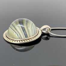 Load image into Gallery viewer, Rings of Saturn Domed Glass Pendant Necklace