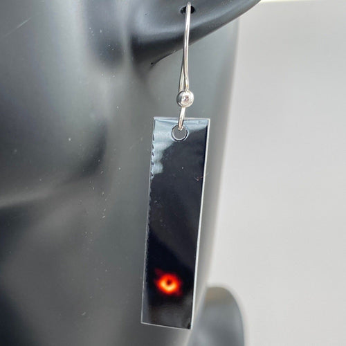 Black Hole Aluminum Vertical Earrings