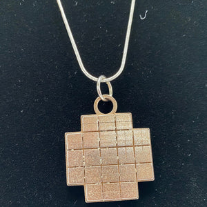 Kepler Field Of View 3D Printed Metal Necklace