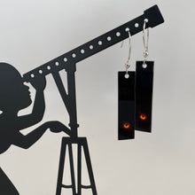 Load image into Gallery viewer, Black Hole Aluminum Vertical Earrings