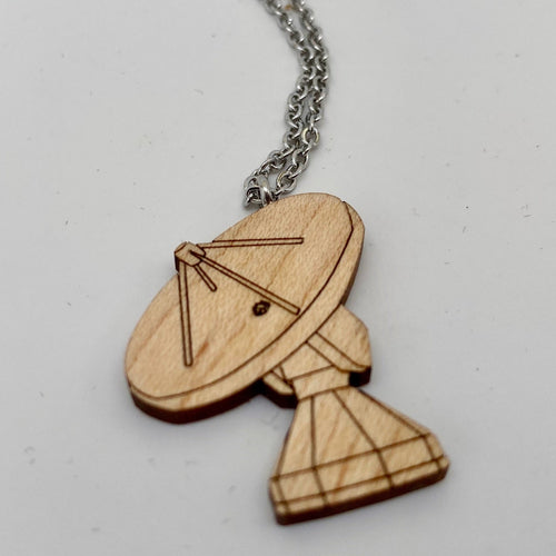 Radio Telescope Wood Necklace