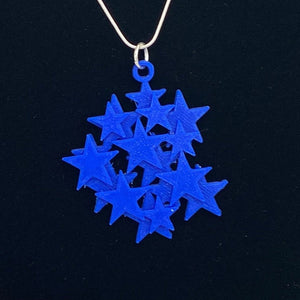 Star Cluster 3D Printed Necklace