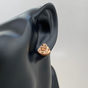 Apollo Module Wood Earrings