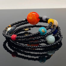 Load image into Gallery viewer, Solar System Spiral Wrap Beaded Bracelet