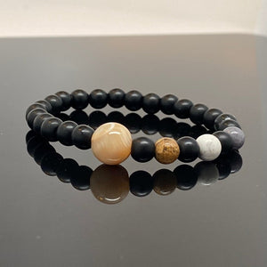 Jupiter + Galilean Moons Beaded Bracelet