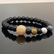Load image into Gallery viewer, Jupiter + Galilean Moons Beaded Bracelet