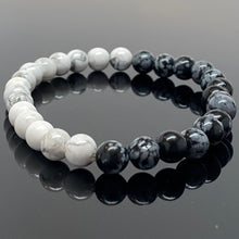 Load image into Gallery viewer, Quarter Moon Phase Beaded Bracelet
