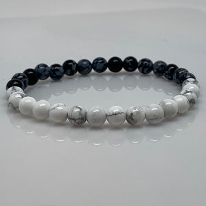 Quarter Moon Phase Beaded Bracelet