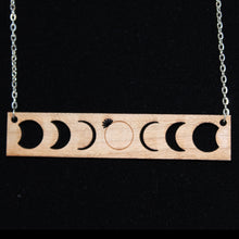Load image into Gallery viewer, Solar Eclipse Wood Necklace