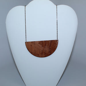Moon Southern Hemisphere Wood Necklace