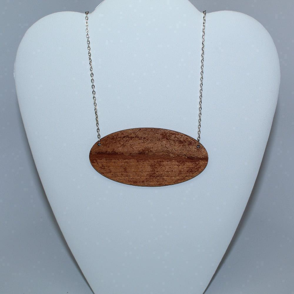 Cosmic Microwave Background Wood Necklace