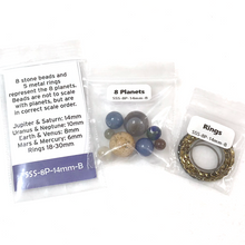 Load image into Gallery viewer, Solar System Planets & Rings Beads - Large