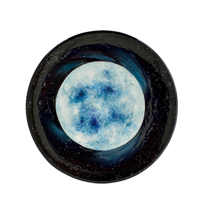 Blue Supergiant Star Hand-Painted Ceramic Plate