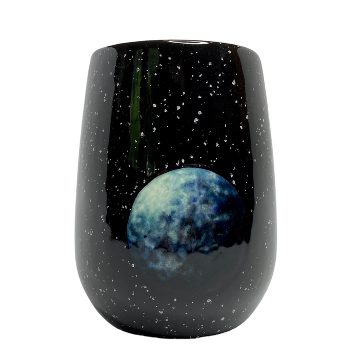 Imagined Planet Hand-Painted Ceramic Tumbler