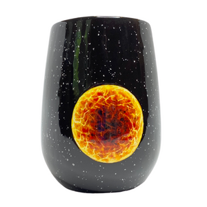 Yellow Star Hand-Painted Ceramic Tumbler