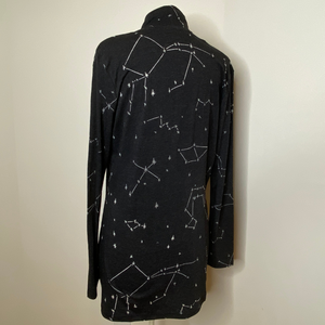 Constellation Pattern Burnout Cardigan