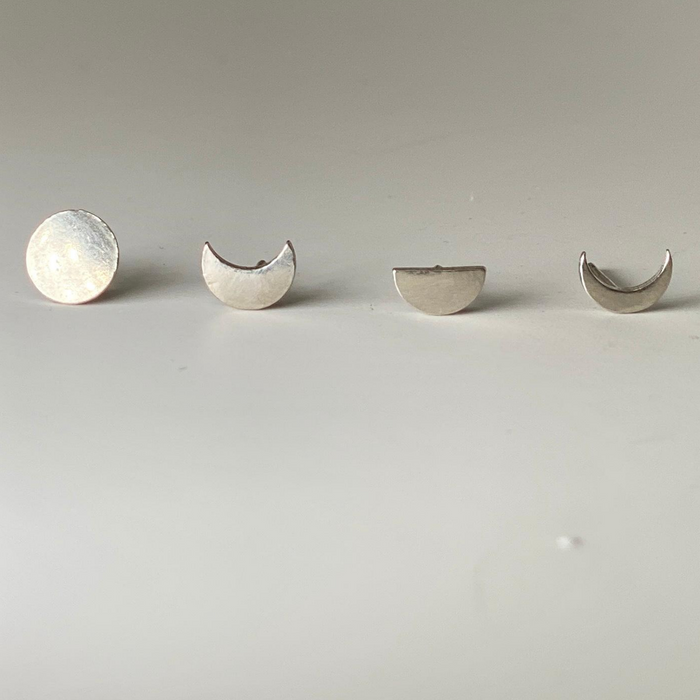 Moon Phase Stud Earring Set