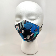 Load image into Gallery viewer, Space Print Fitted Cotton Face Mask
