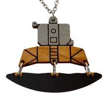 Load image into Gallery viewer, Lunar Lander Wood Necklace