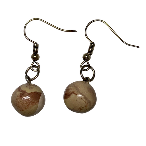 Pluto Dangle Clay Earrings