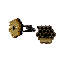 Load image into Gallery viewer, James Webb Space Telescope Mirror Acrylic Cufflinks