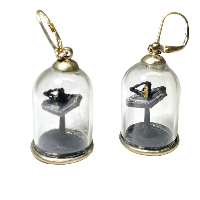 James Webb Space Telescope Diorama Earrings