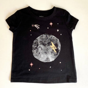 Kids T-shirt Black Moon